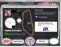 Racing for Holandリアルタイムテレメトリィの画面ショット