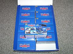 ラリーカーコレクション スバル編のボックスを開けた写真