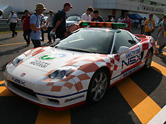 NSX セイフティカーの実車の写真
