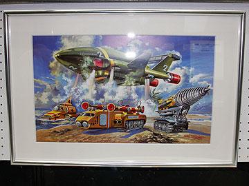 サンダーバード2号のボックスアートの原画の写真