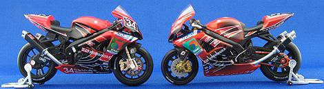 F-toys版とFIRE版のヨシムラGSX-R1000写真
