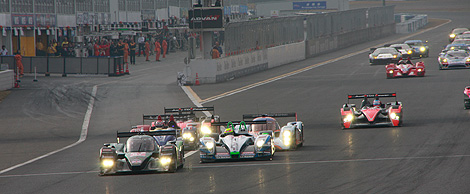 レース2のスタート時の写真
