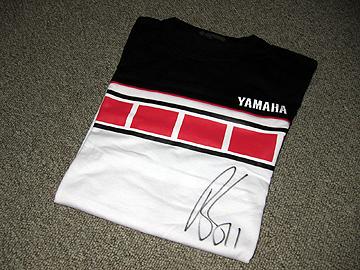 ベン・スピーズサイン入りTシャツの写真