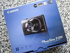 PowerShot S120の梱包箱の写真