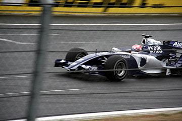 トヨタエンジン搭載ウィリアムズF1の写真